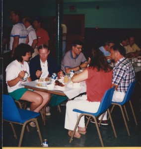 NAPP 1989 July Convention Bedford, MA 32 Dinner in St Mary Church Hall